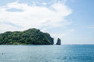 View of Maya Bay, Phi Phi island, Thailand, Phuket.