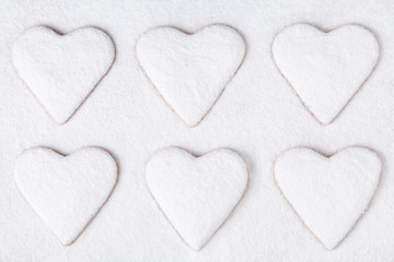 Heart shaped cookies for valentine's day holiday