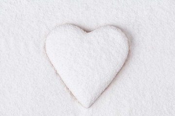 Heart shaped cookie for valentine's day on white background