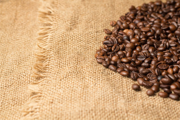 Burlap Sack with coffe beans
