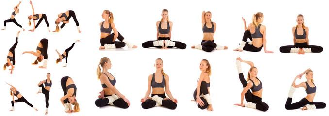 set,yoga, isolated