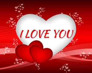 Valentine I Love You Gift Card Background
