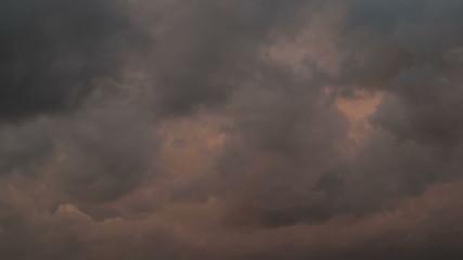 rain clouds, timelapse