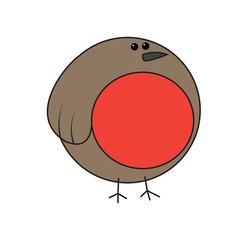 Cartoon robin vector