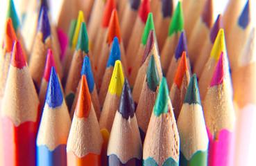 Color pencils, view macro