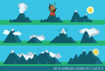mountains set