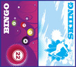 Vertical ski and bingo banners