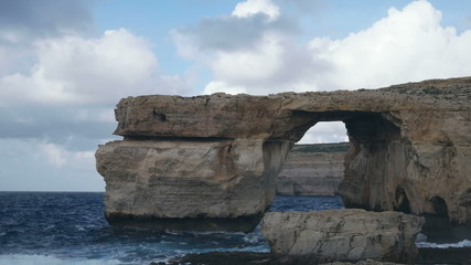 zure Window, famous stone arch on Gozo Island, Malta.