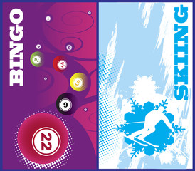 Vertical ski and bingo banners
