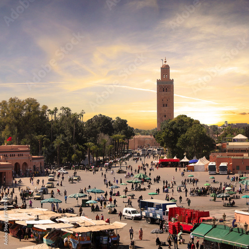 Staande foto Afrika Marrakech - Jemaa el Fna