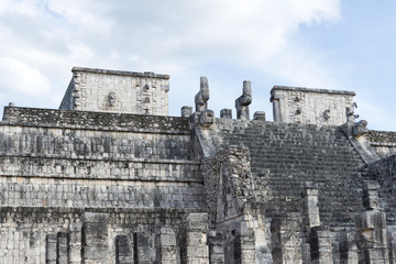 A view of part of the complex Chichen Itza, Mexico
