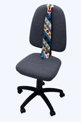 Office chair and tie