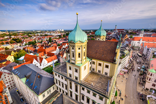 canvas print picture Augusburg, Germany Skyline
