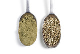 hemp powder and seeds
