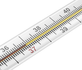 Mercury medical thermometer