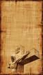 Obrazy na płótnie, fototapety, zdjęcia, fotoobrazy drukowane : Crucifixion of Jesus Parchment - Vertical