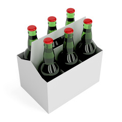 Lager beer bottles