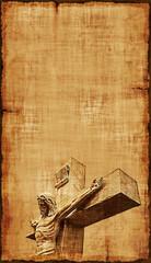 Crucifixion of Jesus Parchment - Vertical
