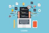 Fototapety Programming - Coding Flat Concept