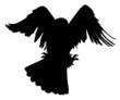 Vector eagle hunting
