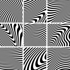 Set of textures in zebra pattern design.