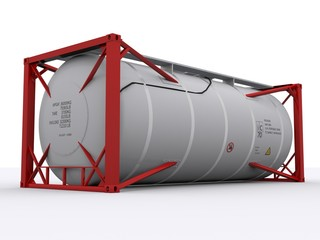 Roter Tank Container