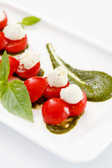 mozzarella with cherry tomato