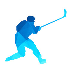 Abstract vector hockey player
