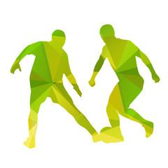 Abstract vector football players