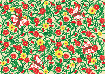 seamless texture with floral pattern