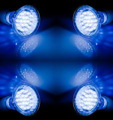 Beams of led lamps