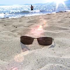 On the sunny beach