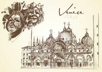 hand drawn Venice