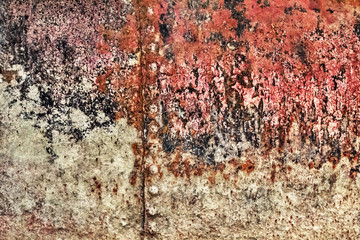 Old Rusty Riveted Metal Floater Rotten Surface Grunge Texture