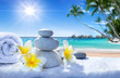spa treatment on tropical beach - 77016465