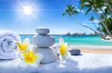 spa treatment on tropical beach - 77016465