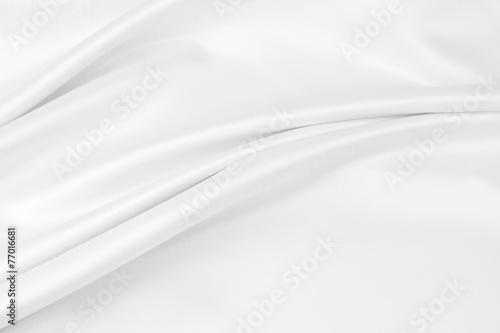 Fotobehang Stof White silk