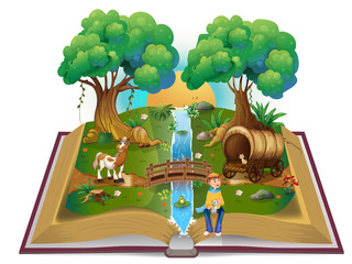 Book about magical forest