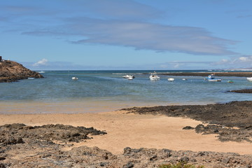 Seascape Majanicho beach Fuerteventura Canary Islands Spain