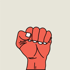fist vector illustration.