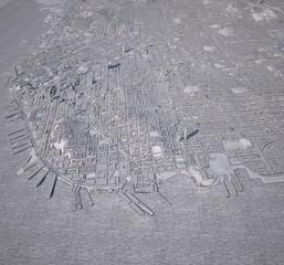 Cartina San Francisco palazzi in 3d, vista satellitare