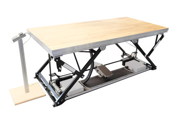 professional lift table in the atelier isolated