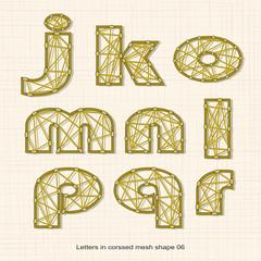 Letters in crossed line pattern 06