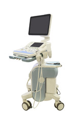 medical ultrasound diagnostic machine isolated