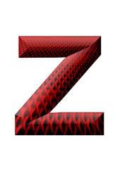kırmızı siyah desenli z harfi