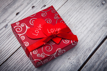 Valentines day background with gift