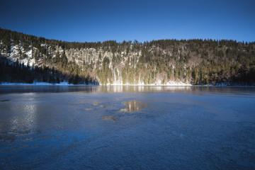 frozen lake in black forest