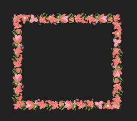 Vintage Flowers Rectangle Frame
