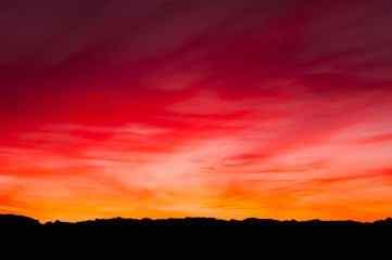 burning sky in a sunset somewhere traveling spain