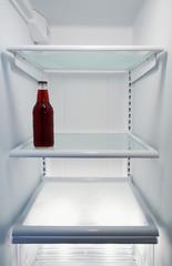 Mostly Empty Refrigerator